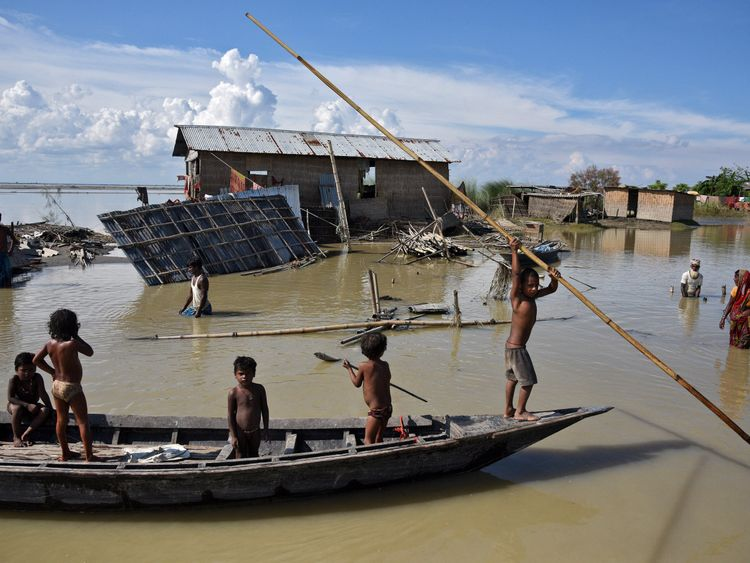 The monsoon rains have caused problems in Northeast India, Bangladesh and Nepal