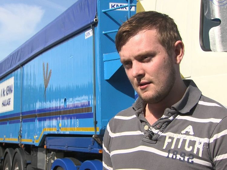 Mark McKenna runs a cross border haulage company