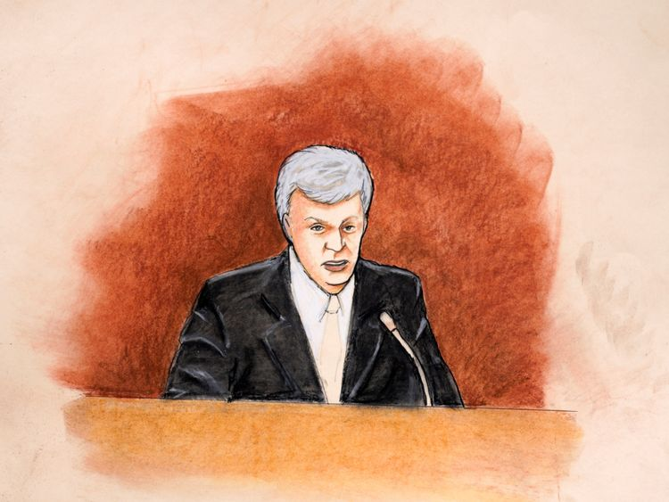 David Mueller, sketched here during his court appearance, says he lost his 'dream job'
