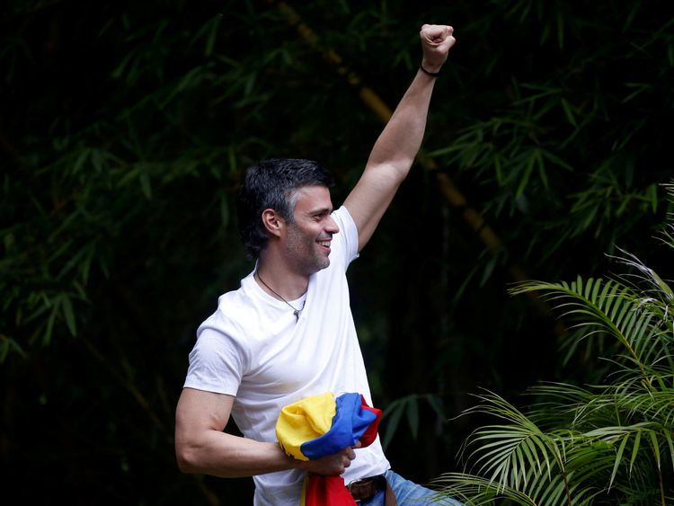 Leopoldo Lopez was released from prison in July after three years inside
