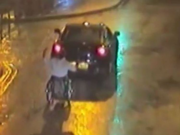 The motorist was banned from driving, while the man in the wheelchair was fined