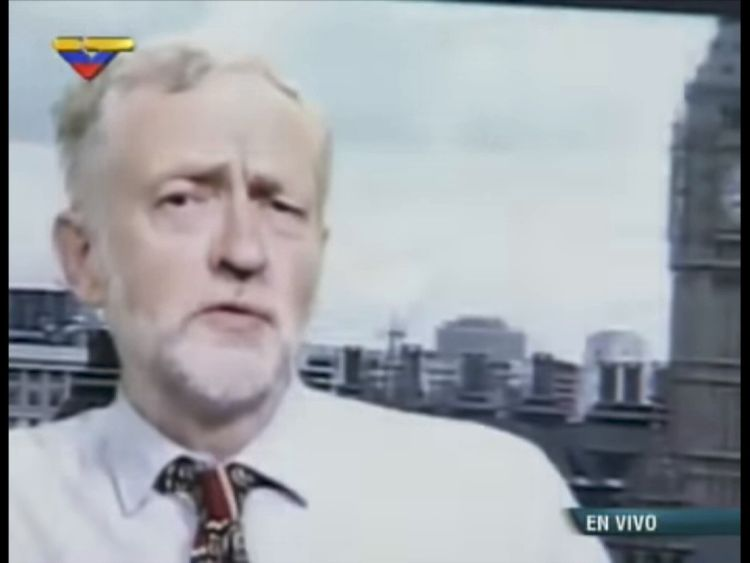 Jeremy Corbyn appeared on Venezuelan TV in a phone in congratulating President Maduro on his victory