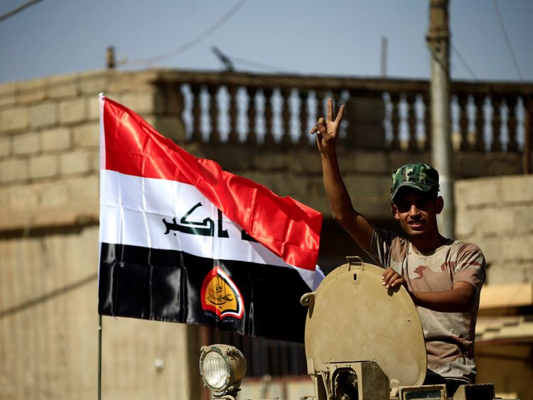 Iraqi forces have retaken most of the IS stronghold