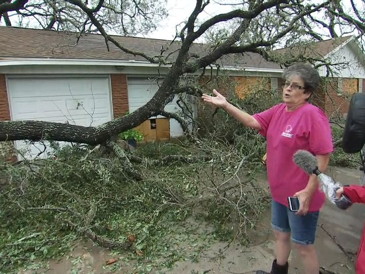 A tree fell on to Magda Graham's house