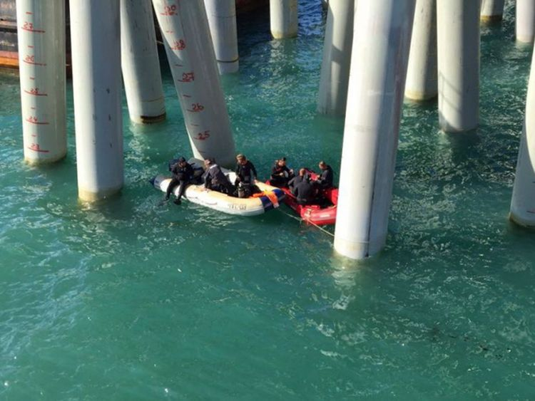 Divers were called in to search for three missing people