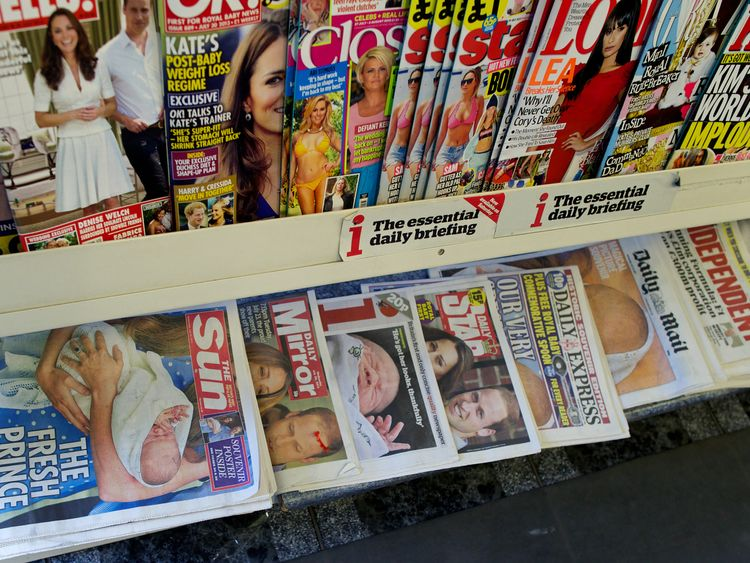 UK newspapers after birth of Prince George