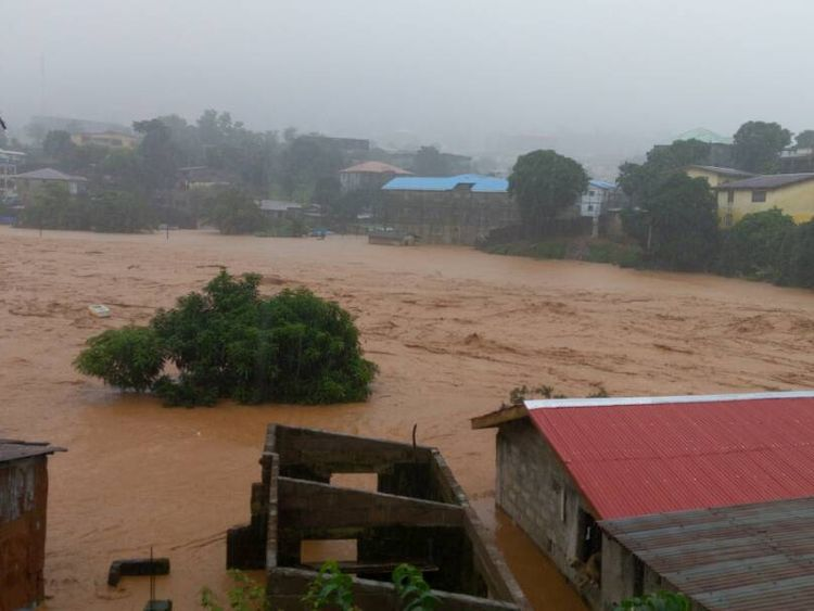 Morgues in the city were reportedly overwhelmed by the number of dead. Pic: Society 4 Climate Change Communications Sierra Leone volunteers