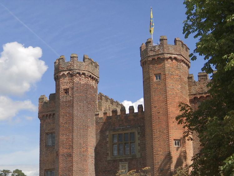 The Tower Gate at Lullingstone Castle in Kent