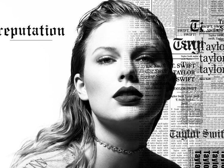 Taylor Swift - and news print. Pic: Twitter/@taylorswift13