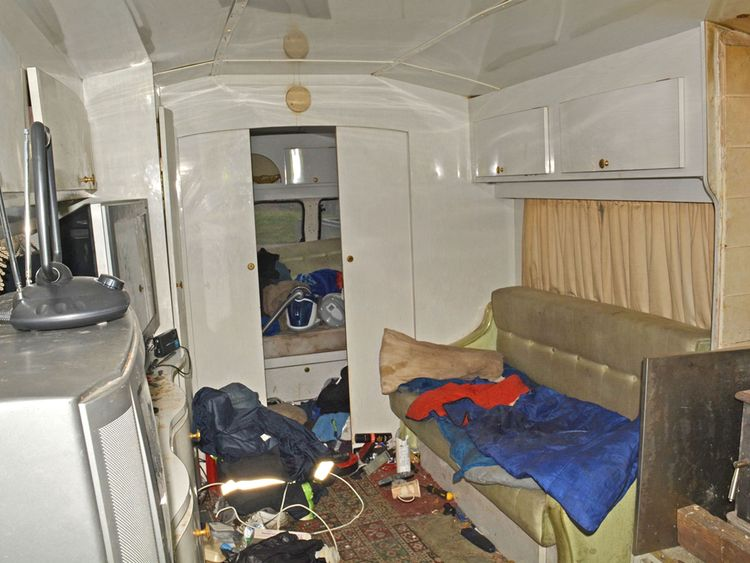 A caravan where slaves were forced to live by the Rooneys