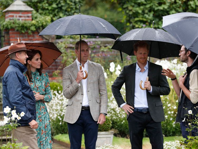 Duke and Duchess of Cambridge with Prince Harry at Kensington Palace
