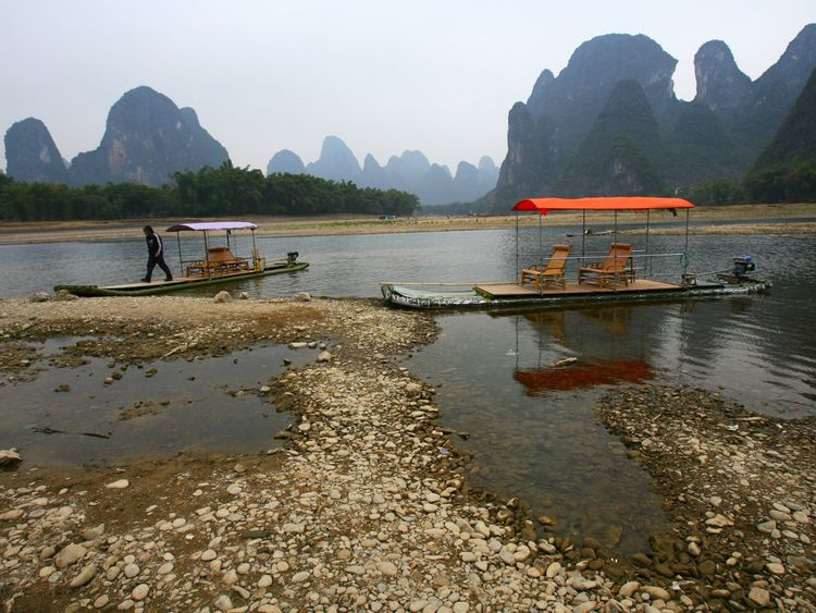 Guilin in China which is known for its karst topography. File pic