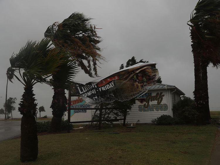 The city of Corpus Christi took the force of Harvey's 130mph winds