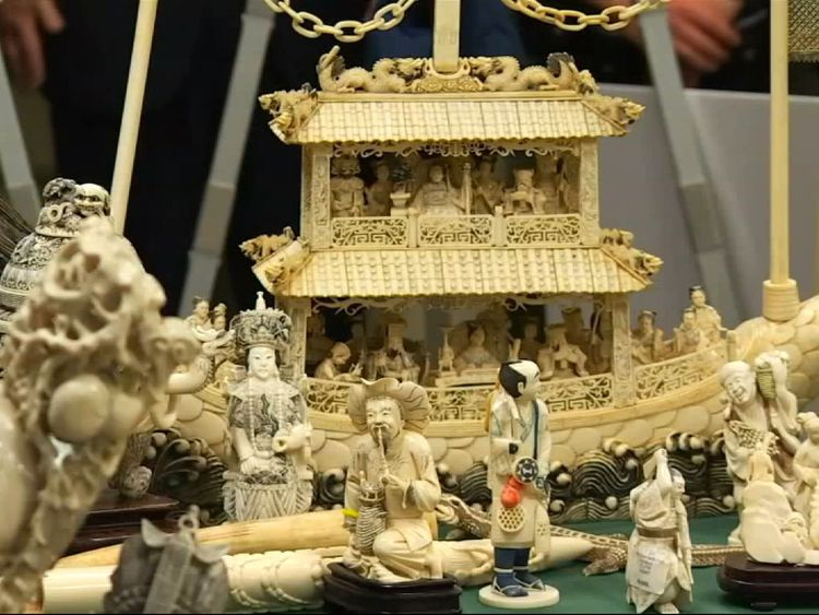 Nearly two tonnes of ivory objects will be destoryed