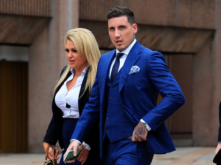 Reality TV star Jeremy McConnell outside Liverpool magistrates Court where he is to be sentenced for assaulting ex-girlfriend Stephanie Davis. PRESS ASSOCIATION Photo. Picture date: Friday August 11, 2017. He was found guilty on Monday of attacking the former Hollyoaks actress at her home in Rainhill, Merseyside, on March 10. See PA story COURTS McConnell. Photo credit should read: Peter Byrne/PA Wire