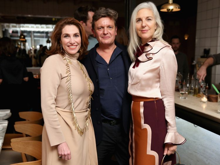 Tom Chapman, and Ruth Chapman attend MATCHESFASHION.COM x Roksanda Dinner at Le Turtle on October 27, 2016 in New York City.