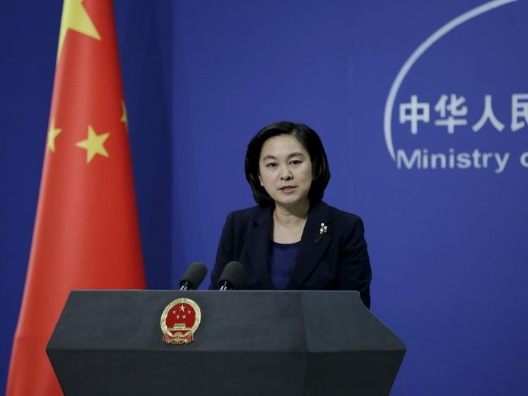 Hua Chunying, spokeswoman of China's Foreign Ministry, speaks at a regular news conference in Beijing...