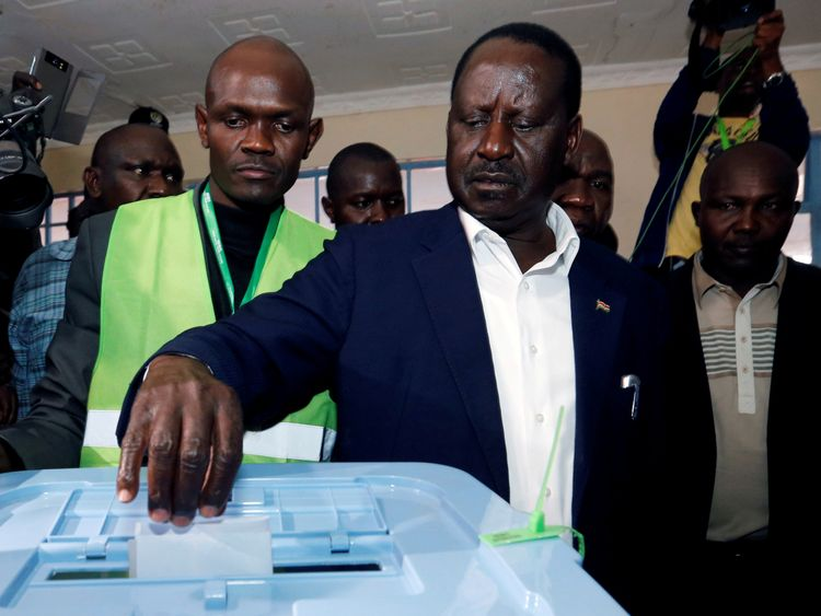 Opposition leader Raila Odinga has rejected the 'fake' result