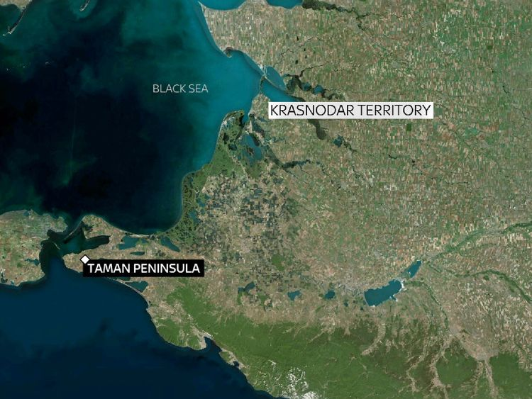 The incident happened on the Taman peninsula