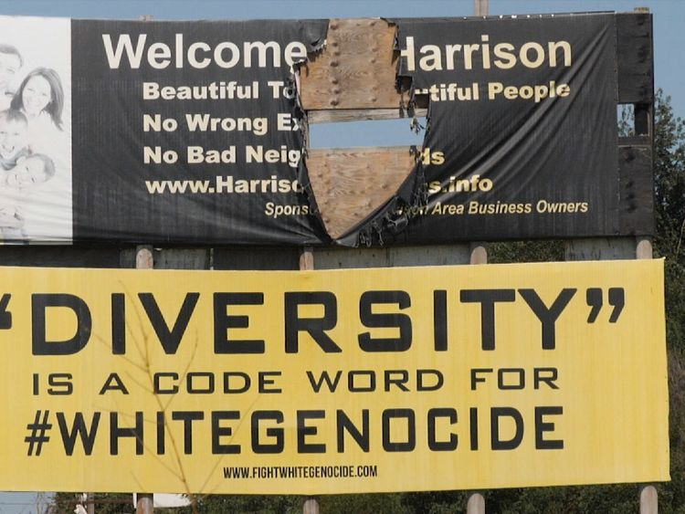 Sign at the entrance to Harrison, Arkansas