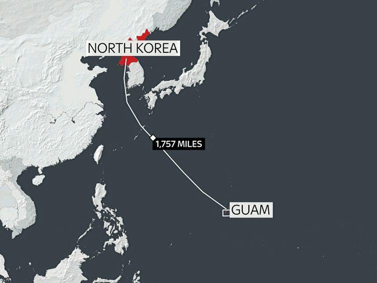 Pyongyang to Guam