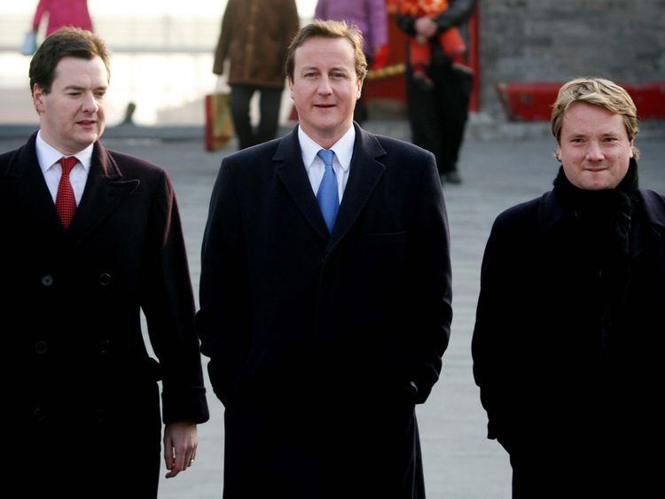 George Osborne, David Cameron and James Chapman