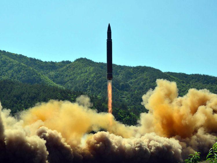 North Korean intercontinental ballistic missile test