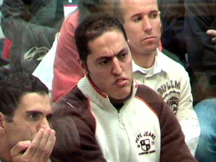 Rachid Aglif (C) was one of the 28 suspects accused of the 2004 Madrid train bombings