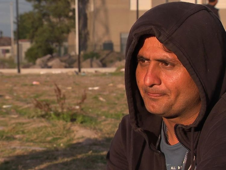 Osman from Afghanistan is trying to reach the UK after failing to get asylum in Germany