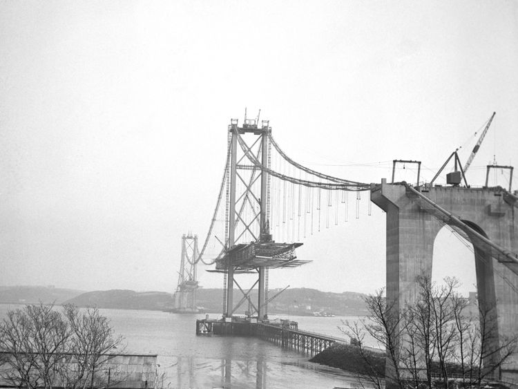 The Forth Road Bridge pictured in 1963