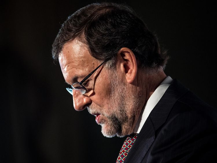 Spain's Prime Minister, Mariano Rajoy, says he is in contact with authorities