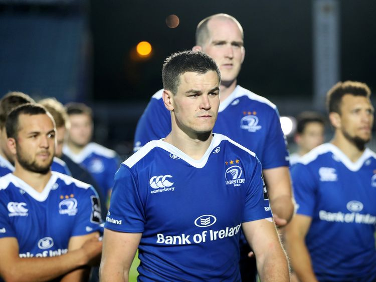 Guinness PRO12 Semi-Final, RDS, Dublin 19/5/2017.Leinster vs Scarlets.Leinster's Johnny Sexton dejected after the game.