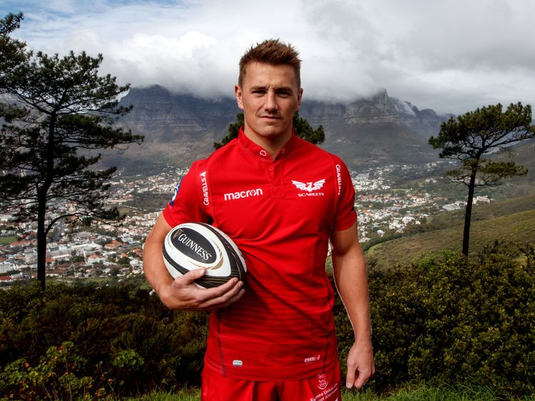 Jonathan Davies at the Guinness PRO14 launch in South Africa