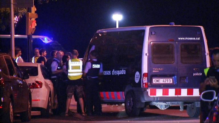 Five suspected terrorists have been shot dead by Spanish police in Cambrils