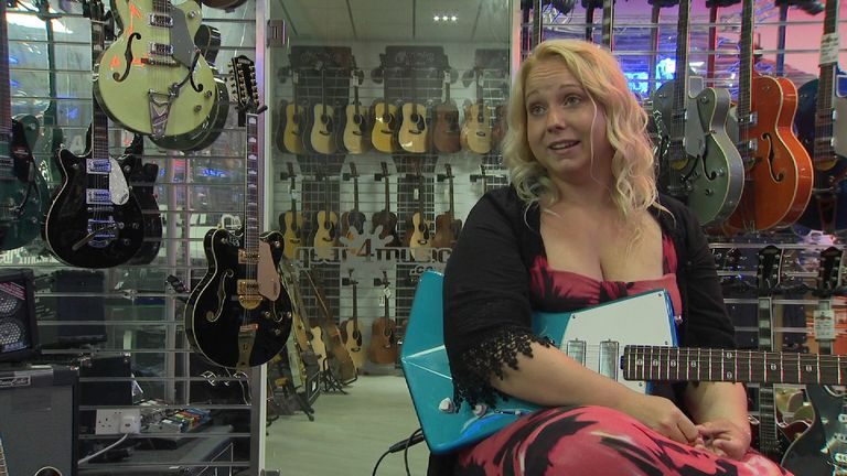 Now one of Britain's best guitarists, she warned men might 'struggle' with her music