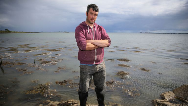 Oyster farmer Darren Carlingford is worried about how Brexit will effect his business