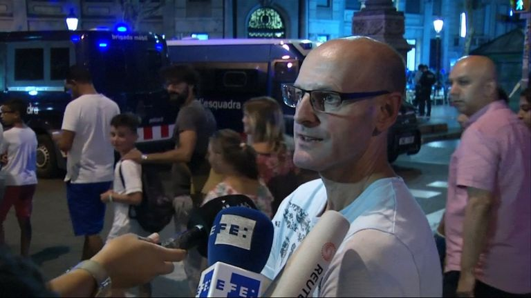 Witnesses describe what they saw of a terror attack in Barcelona
