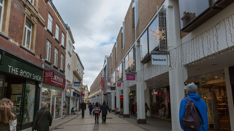 A shopping high street