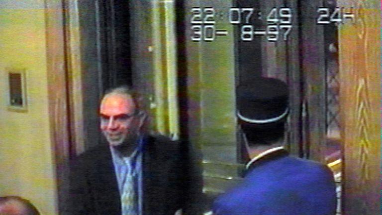 Henri Paul returning to the Ritz to meet Diana and Dodi