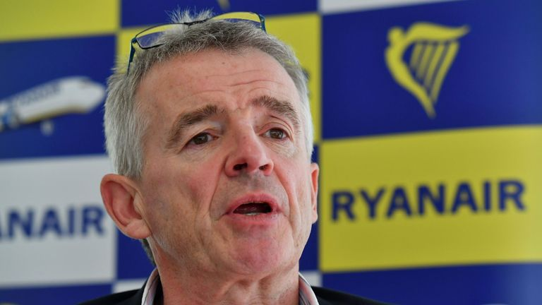 Michael O'Leary is head of the budget airline