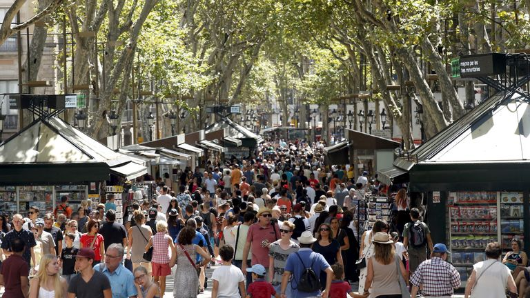 'Las Ramblas will once again be for all', Spain's Royal Family said. File pic