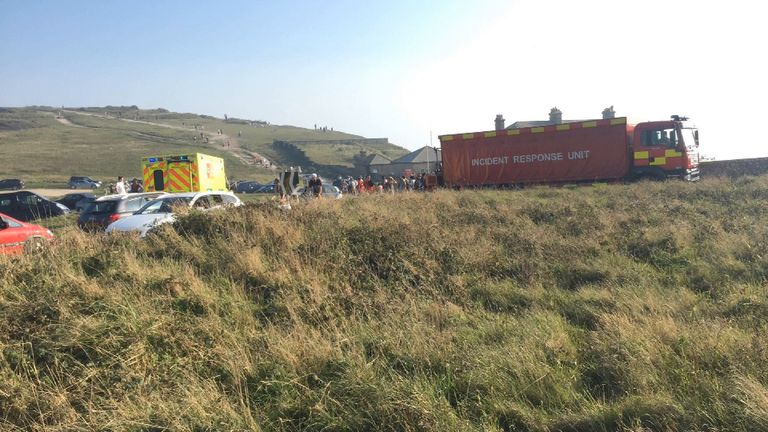 The incident was first reported at beauty spot Birling Gap
