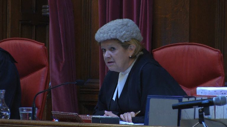 Lady Justice Hallett delivers a verdict