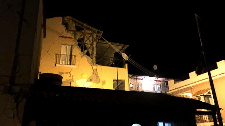 Buildings crumbled in the 4.0 magnitude quake