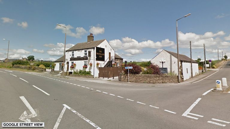 The pub where the car hit the wall in Barnsley