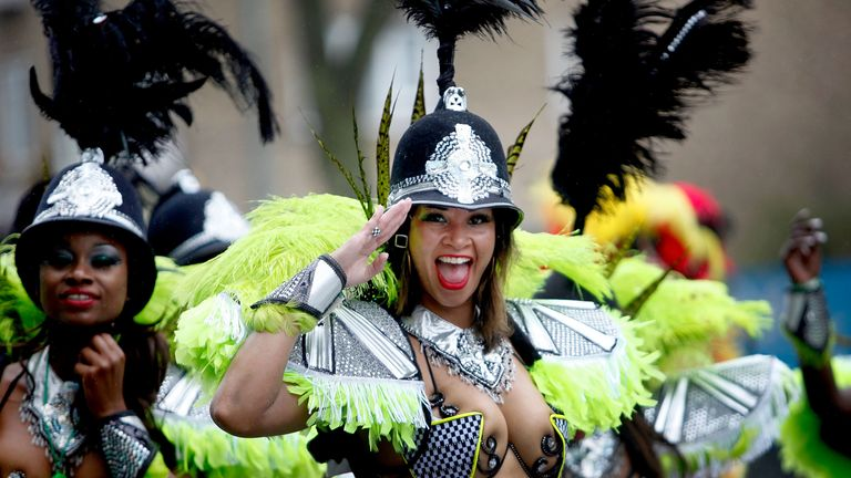 Costume and performance is a large part of Notting Hill Carnival, which attracts over 1 million visitors