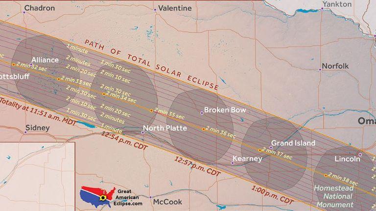 Nebraska. Pic: Great American Eclipse