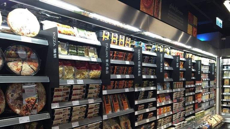 The food section of the M&S Queensway store in Hong Kong