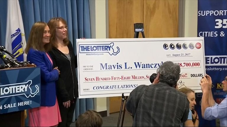 Mavis Wanczyk becomes winner of largest ever single US lottery prize, scooping $758.7m (£593.7m)