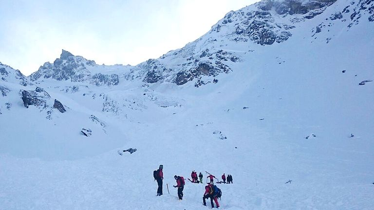 Five climbers were killed in the Austrian Alps. File pic